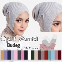 Inner jilbab bandana rajut hijab ciput rajut Ikat kepala ninja wanita