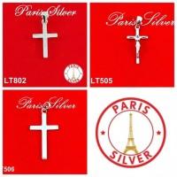 Liontin buah kalung bandul Superior Class salib full ad Silver / Pera