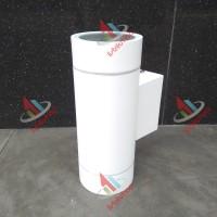 Armatur Lampu Dinding MR16 Indoor / Outdoor Bulat 2 Arah Putih WL-091