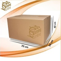 Kardus   Box   Karton Packing Polos Besar/Jumbo 70x50x40 Tebal 4 mm