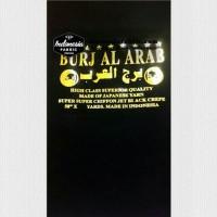 Kain Cadar Kain Niqab Jetblack Siffon Chiffon Sifon Burj Al Arab