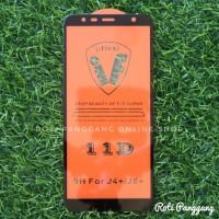 SAMSUNG GALAXY J6 PLUS 5D Full Cover Tempered Glass Premium Anti Gores