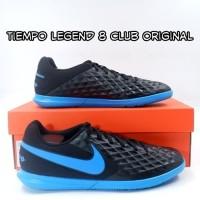 sepatu futsal nike tiempo legend 8 club hitam biru ic original