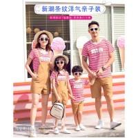 FM006 Baju keluarga impor baju couple ayah ibu anak good quality 2 wrn