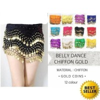 belly dance belt sifon koin gold baju senam belly dance dewasa