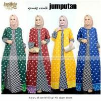 Gamis Cardi Jumputan / baju batik muslim / batik wanita /batik modern