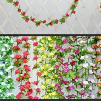 Bunga rambat hias mawar kecil 100 artificial