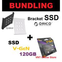 PAKET SSD 120GB / 120 GB V-GEN / VGEN + BRACKET ORICO 2.5 to 3.5