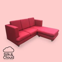 Silk&Cloud Cubika L seat sofa - red