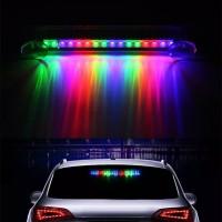 lampu 16 LED Car Solar Explosion Flash Light Alarm Warning Strobe Lamp