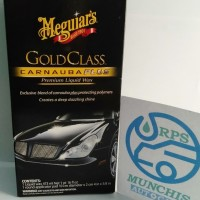 Meguairs Gold Class Carnauba Liquid wax (473ML) free Aplicator Pad
