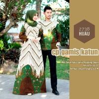 Baju dress gamis sarimbit batik couple kemeja lengan panjang 2738