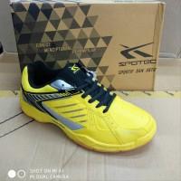 Sepatu olahraga badminton spotec max score anak yellow black - Kuni