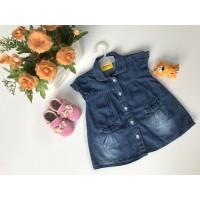 Baju Bayi Jeans Denim Dress Levis Anak Lengan Pendek