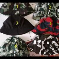 Terlaris!! Topi Bucket Hat Motif Army / Baket Army / Topi Lonceng