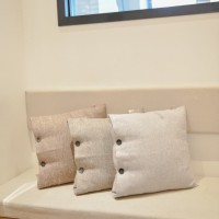 UCHII Sofa Cushion Set Pillow Cover| Bantal Dacron Sarung Knit | Gray