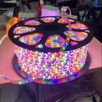 Lampu Led Strip Selang 5050 SMD per meter Outdoor RGB Warna warni Hias