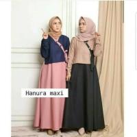 Gaun Gamis Atasan Muslimah Cantik Baju gamis wanita HANURA MAXY dress