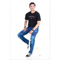 Celana Jeans Sobek Pria / Celana Jeans Panjang Pria
