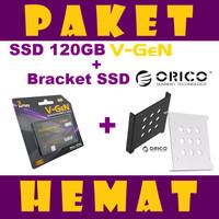 PAKET HEMAT SSD 120GB / 120 GB V-GeN + PC Bracket Orico 2.5 to 3.5