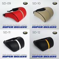 Bantal Mobil Super Deluxe Kulit MBTECH ORIGINAL - Hitam Merah