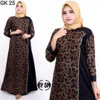 Baju Gamis Batik Wanita Terbaru 2019