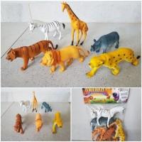 Set Mainan Hewan Ukuran Besar - Paket Kebun Binatang Animal Anak Jumbo