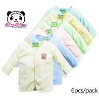 6Pacs Baju Bayi New Born Lengan Panjang Hello Baby /Perlengkapan Bayi