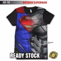 Kaos Keren Baju Superhero BATMAN V SUPERMAN SUIT Anak dan Dewasa
