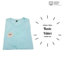 Kaos polos tangan pendek Light Blue Tosca Basic Tshirt BT008