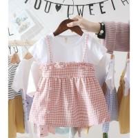 K&B baju dress APRONE mini dress baju anak perempuan import