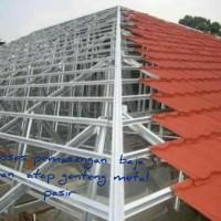 kontruksi naja rinan atap spandek berpasir