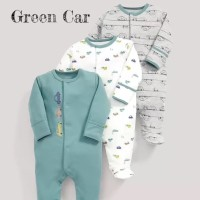 Mamas Papas Sleepsuit Set 3 in 1 Motif Green Car