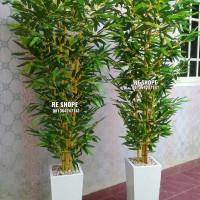 Pohon Bambu Plastik Bunga Hias