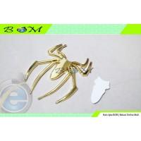emblem logo Mobil Motor Laba laba spiderman 3D chrome krum gold emas