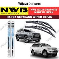 Wiper depan Pajero Sport uk. 22&18 - NWB Japan Aqua Graphite
