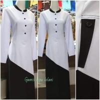 gamis pemda gamis hitam putih seragam muslimah baju muslimah