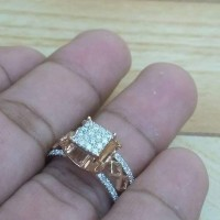 Cincin Fashion Simple Emas Putih Berlian
