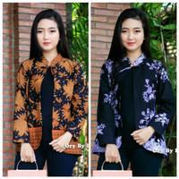 Baju batik wanita blouse bolero seragam kantor