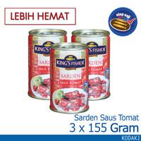 Paket 3 pcs King's Fisher Sarden mini saus tomat Makanan Kaleng 155 g
