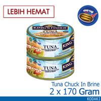 Paket 2 pcs King's Fisher Tuna Kaleng Air Garam Tuna in Brine 170g
