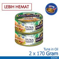 Paket 2 pcs King's Fisher Tuna Kaleng Minyak Nabati Tuna in Oil 170 g