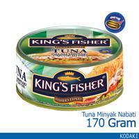 King's Fisher Tuna Minyak Nabati Tuna in Oil Daging Tuna 170 g