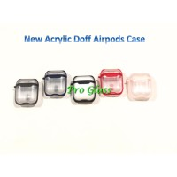 Apple Airpods Airpod 1 / 2 New ARCYLIC DOFF Clear Premium Case + Strap