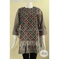 Atasan Batik Wanita Untuk Kerja Desain Trendy 2 Motif Size M BLS9455PB