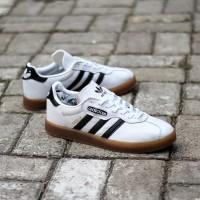 Sepatu Adidas Gazelle super white black gum original Made in Indonesia