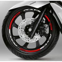 stiker velg motor honda pcx ring 14 warna bisa request desain bisa cus