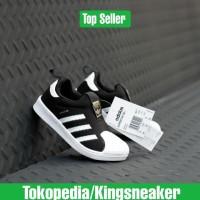 SEPATU KIDS ADIDAS SUPERSTAR 360 SLIP ON BLACK WHITE BNIB ORIGINAL