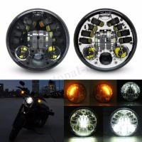 Lampu LED Proyektor5.75 70W untuk Harley Davidson Dyna Chop