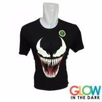 Baju Kaos Glow In The Dark Venom Pria